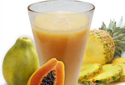 Suco de Água de Coco, Mamão e Abacaxi
