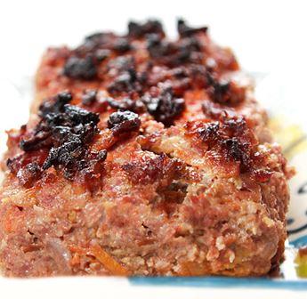 Bolo de carne com aveia e bacon crocante