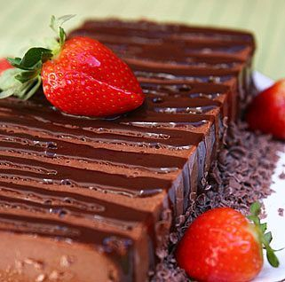 Musse de chocolate com morango