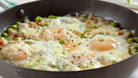 Refogado prático de Ovo e ervilha