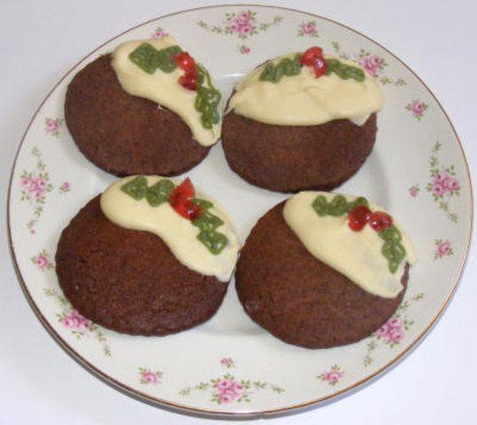 Biscoitos de pudim para o Natal