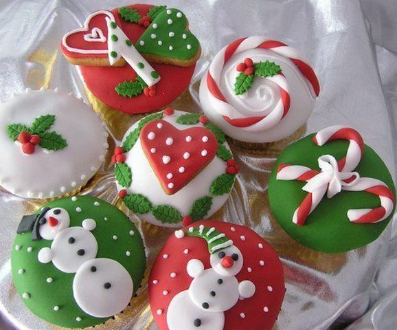 Deliciosos cupcakes para o Natal