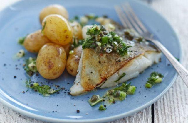 Bacalhau frito com salada de batata receita