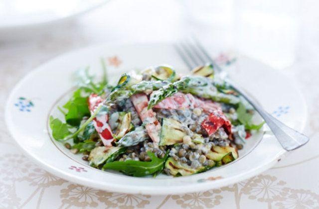 Salada de lentilha e vegetais