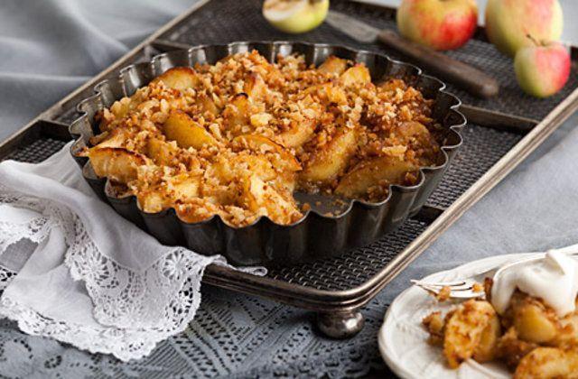 Torta de maçã com pão