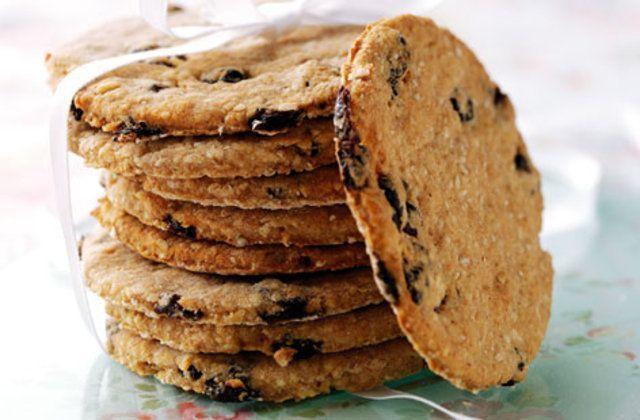 Cookies de canela mel e groselha