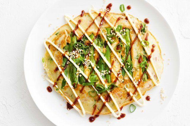 Aspargos okonomiyaki