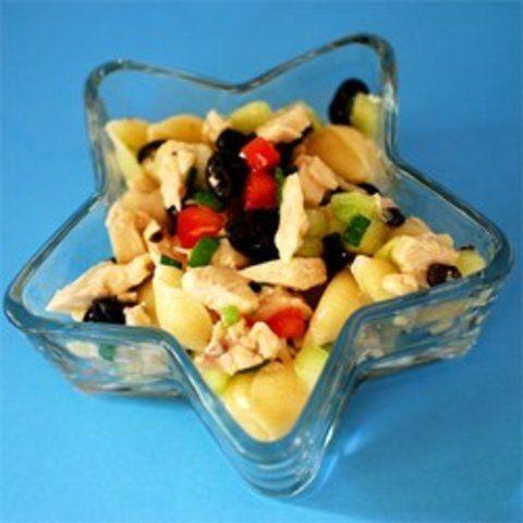 Salada de Macarrão com frango e Legumes