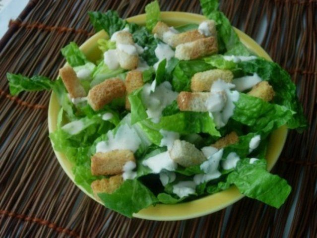 Famosa salada cesar do Kittencal