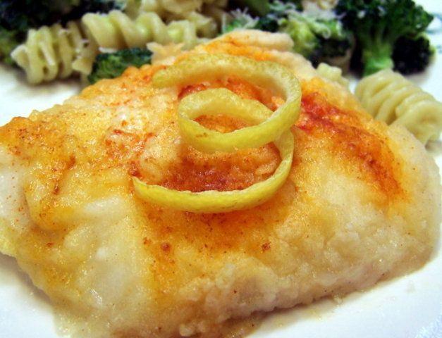 Bacalhau com manteiga e limão cozido