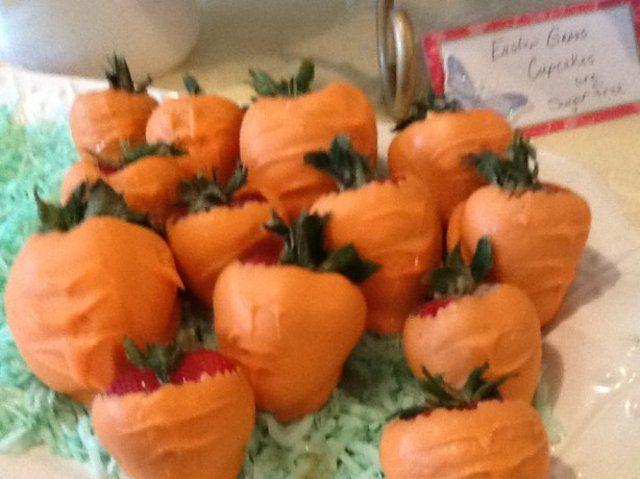 Falsas cenouras de morango