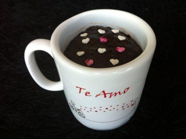 Brownie de caneca no microondas