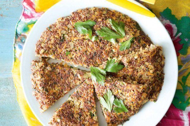 Fritada de quinoa e batata doce