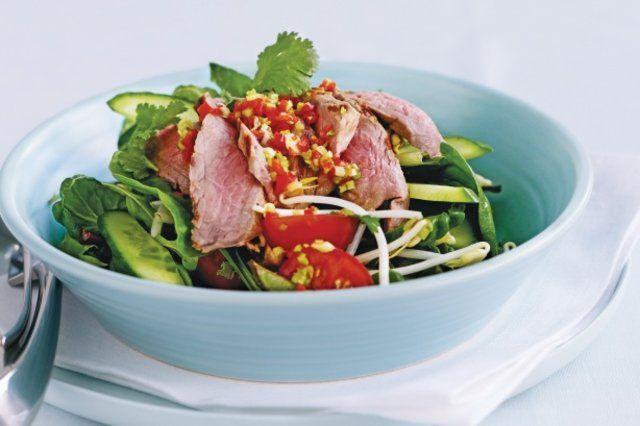 Salada de carne picante