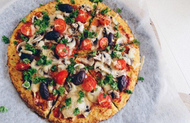 Massa de pizza de couve-flor sem glúten