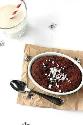 Brownie de caneca para um