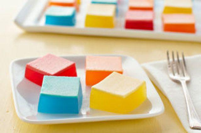 Quadrados de gelatina