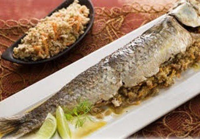 Peixe Recheado com atum