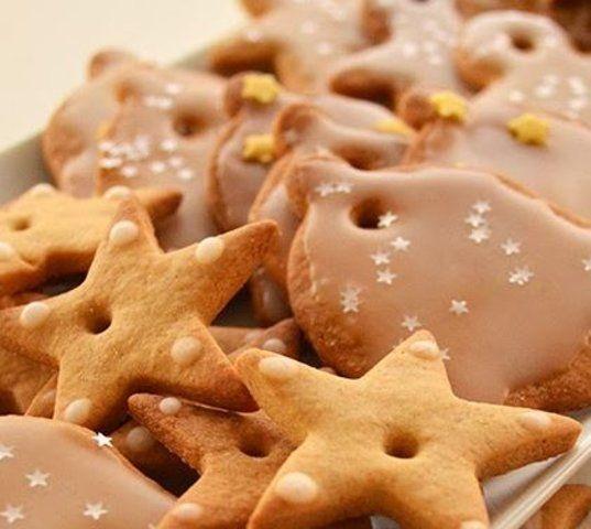 Biscoitos de natal de gengibre e canela