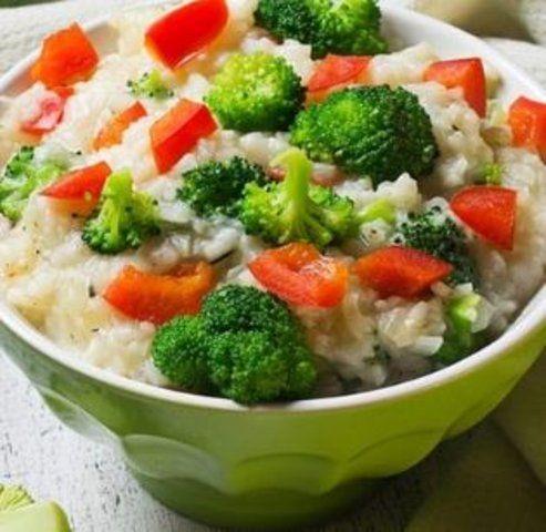 Risoto de Cenoura e Brócolis