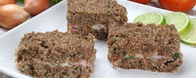 Quibe de quinoa assado