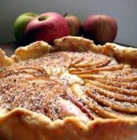 Torta de maçã rústica