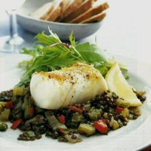 Bacalhau com lentilhas