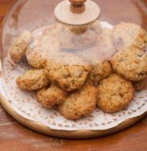 Biscoito de baunilha e aveia