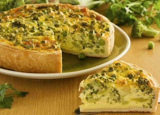 Torta integral de brócolis