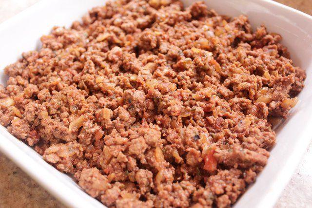 Carne moída no microondas