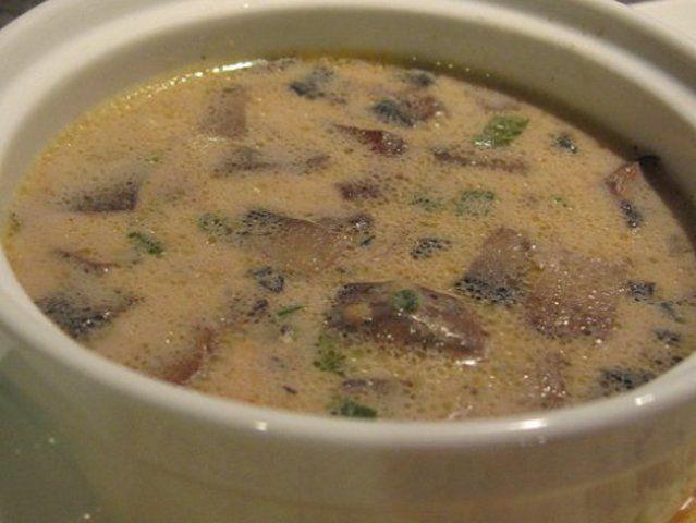 Sopa creme de cogumelo