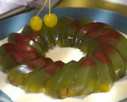 Gelatina de Vinho com Frutas