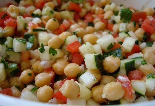 Salada de grãos para ano novo