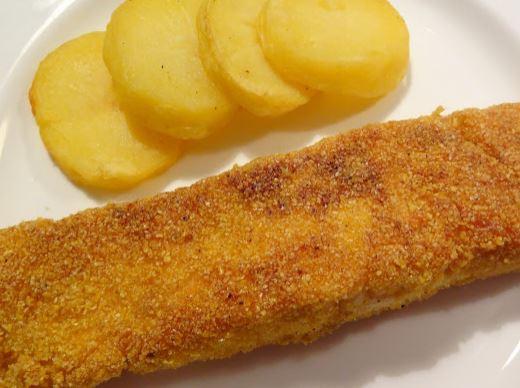 Filé de Salmão Crocante com Batatas