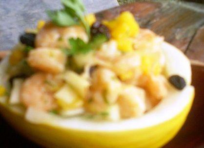 Salada de Melão com Camarão
