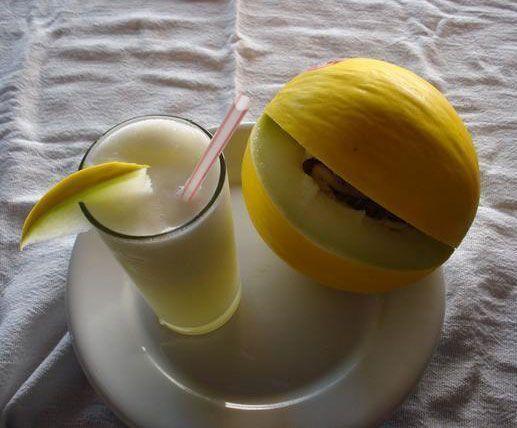 Suco de melão cremoso