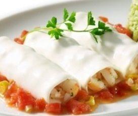 Canelones com recheio de camarão  delícia
