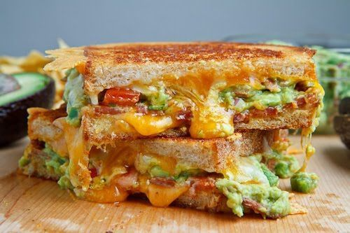 Bacon Guacamole sanduíche de queijo grelhado