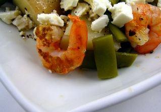Salada de feijão de Santarém com camarão