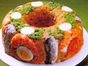Cuscuz de camarão com sardinha