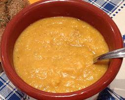 Sopa de Grão de Bico com Abobora