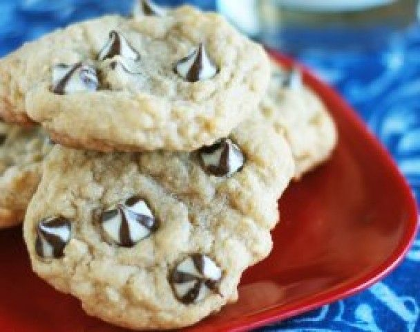 Biscoitos redondos de chocolate