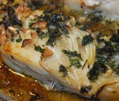 Bacalhau e Purê de Grão de Bico