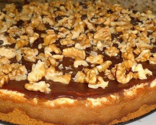Cheesecake de Nozes e Chocolate