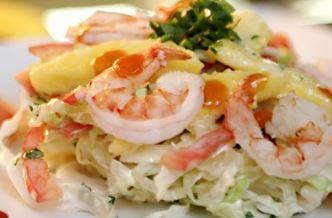 Salada de Manga com Camarão