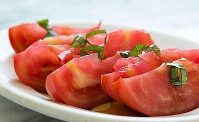 Salada de Tomate com Molho de Soja