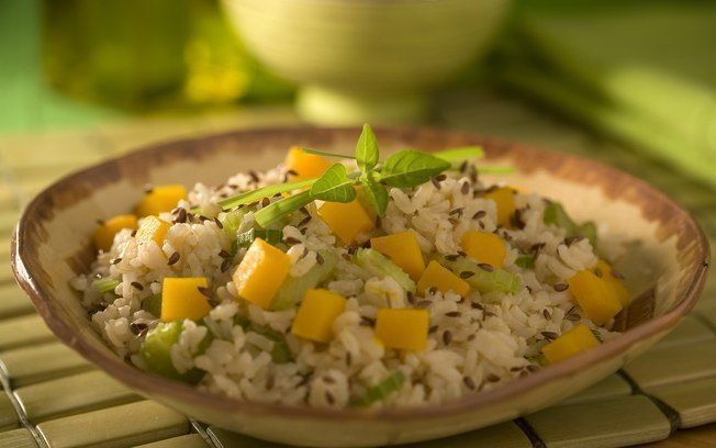 Arroz integral com salteado de abóbora light