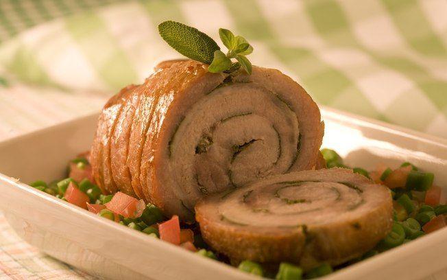 Lombo de porco assado com vinagrete