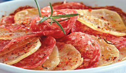 Batata e Salame ao Forno