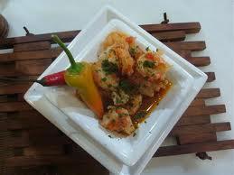 Guisado de lula e camarão